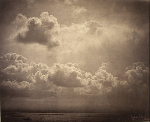 Seascape, study of clouds