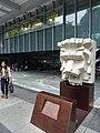 HK Central Queen's Road HSBC HQ ground floor square statue stone lion head April 2016 DSC (1).JPG