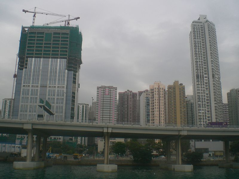 File:HK Fortune Ferry 富裕小輪 view 02 North Point high-rises.JPG