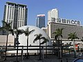 HK TST Salisbury Road Peninsula Hotel facades Sheraton Hotel HK Space Museum.JPG
