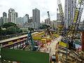 HK YL 元朗 Yuen Long 朗屏站 Long Ping MTR Station view construction site April 2016 (4).JPG
