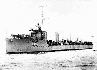 HMAS <i>Parramatta</i> (D55) River-class torpedo-boat destroyer