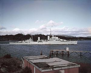 HMCS Ontario (C53) - HMCS Ontario in 1958
