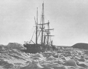 HMS Alert (1856) - HMS Alert in pack ice during the Arctic Expedition of 1876