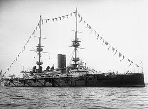HMS Victorious (1895) - Image: HMS Victorious 1898 IWM Q 040505