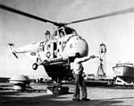 HRS-3 landing on USS Newport News (CA-148) 1962.jpg