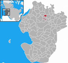 Location of Hägen within the Dithmarschen district