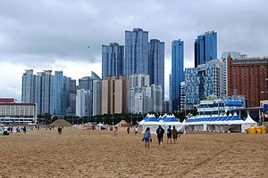 Haeundae District - Marine City on a Cloudy Day