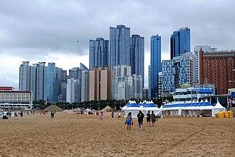 Haeundae District - Marine City on a Cloudy Day
