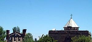 St. George Church, Haftvan - The church and its adjacent half ruined auditorium