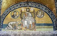 220px-Hagia_Sophia_Imperial_Gate_mosaic_2 dans Politique