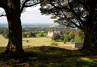 Hagley Park, Worcestershire - The view from Milton's Seat in Hagley Park
