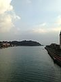 Haiki Seto Strait from bridge in front of Huis Ten Bosch Station (south) 2.jpg