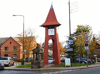 Hale, Greater Manchester - Image: Hale clock tower 2005
