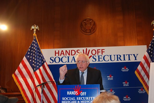 Hands Off Social Security! - Bernie Sanders, From WikimediaPhotos