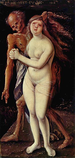 100 Great Paintings - Baldung: Der Tod und das Mädchen