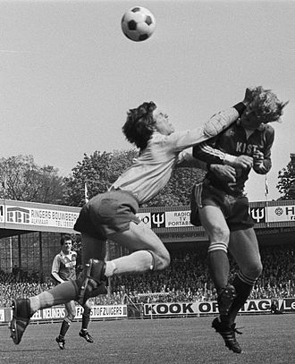 Hans Galjé - Hans Galjé (left) vs Kees Kist, AZ67 – FC Den Haag (2–1) 15 May 1977