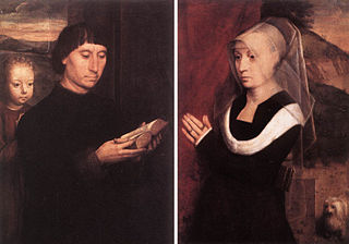 Diptych with two donors