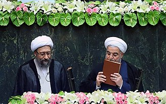 Oath of office - Hassan Rouhani takes the oath of office as the President of Iran.