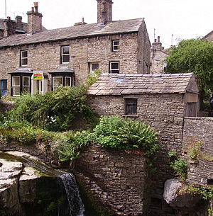 Yorkshire Dales National Park - Stone houses in Hawes, a typical example of Dales architecture