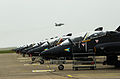 Hawk Aircraft Lined up on the Line at RAF Valley MOD 45142177.jpg