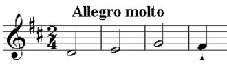 Symphony No. 13 (Haydn) - Image: Haydn symph 13 last mvmt