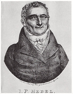 Karl Agricola - Portrait of Johann Peter Hebel, lithography by Agricola from 1815