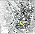Heilbronn vermutete Lage des fränkischen Königshofes an der via regis Königsweg Frankfurter Straße, Deutschhofgebäude.JPG