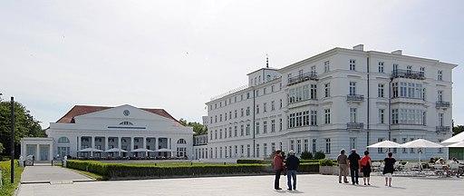 Heiligendamm, das Kempinski Hotel, Ansicht von der Strandpromenade
