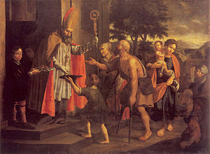 Jan Jiří Heinsch - Saint Nicholas Gives Alms (1685)