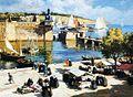 Henri Barnoin Jour de marché devant la ville close.jpg