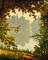 Henri Biva, Looking out onto a lake on a summer day, oil on canvas, 73 x 60.3 cm.jpg