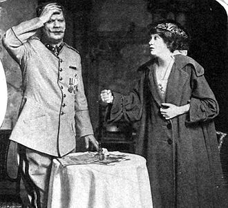Henry Vogel - Vogel (left) as General Klaus and Fay Bainter (right) as Ruth Sherwood, in Arms and the Girl, 1916