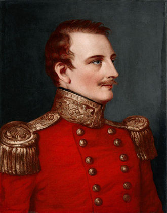 Henry Walter Bellew - Portrait of Captain H.W. Bellew (1803-1842) a year before he was killed. (National Army Museum, London)