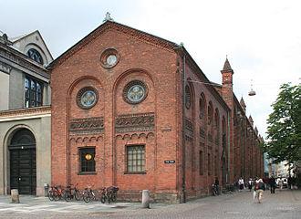 Fiolstræde - Herholdt's University Library, the gable towards Frue Plads