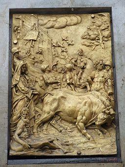 Herkulesbrunnen Augsburg Bronzerelief 1