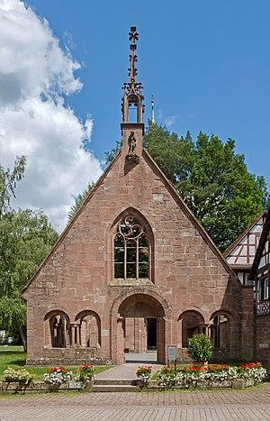 Herrenalb Abbey - Herrenalb Abbey: entrance hall of the ruined abbey church, ca 1900