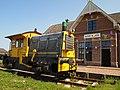 Het station en Locomotief..JPG