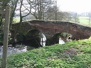 River Tean river in Staffordshire, United Kingdom