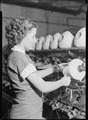 High Point, North Carolina - Textiles. Pickett Yarn Mill. Winder operator - highly skilled - showing hands in... - NARA - 518520.tif