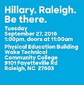 Hillary. Raleigh. Be there.jpg