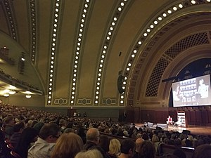 What Happened (Clinton book) - The Hill Auditorium during Hillary Clinton Live