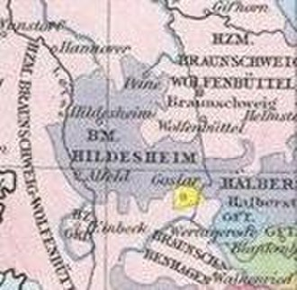 Hildesheim Diocesan Feud - The prince-bishopric around 1500 (before the feud)