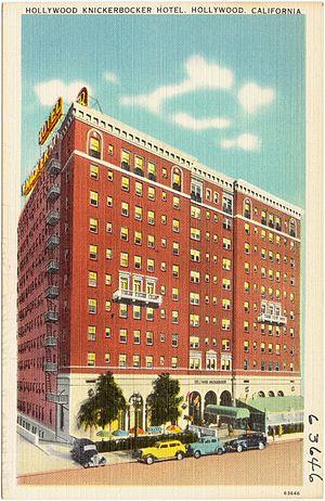 Knickerbocker Hotel (Los Angeles) - Postcard circa 1940s