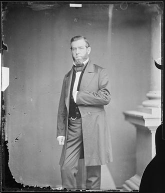 David C. Broderick - Broderick as a US Senator from California, photographed by Mathew Brady.