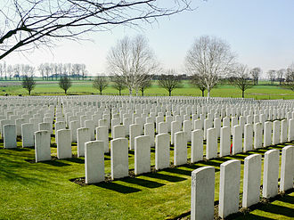 Hooge Crater Commonwealth War Graves Commission Cemetery - View of the cemetery