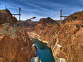 Hoover Dam Bypass construction - 1 May 2009.jpg