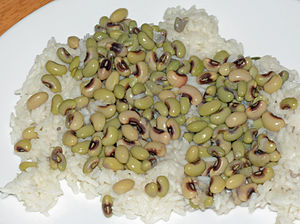 Rice and peas - Hoppin' John - black-eyed peas and rice, a food of the Southern US