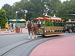 Horse trolley Main street Circle Magic Kingdom Walt Disney World.jpg