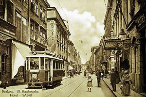 Trams in Kraków - SN1 tram in Kraków in 1914